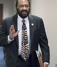 When Rep. Al Green, D-Texas introduced a resolution in Congress Wednesday to impeach President Trump for associating his presidency with causes rooted in bigotry and racism, none of Oregon's delegation to the House, including all four Democrats would support it. (AP photo)