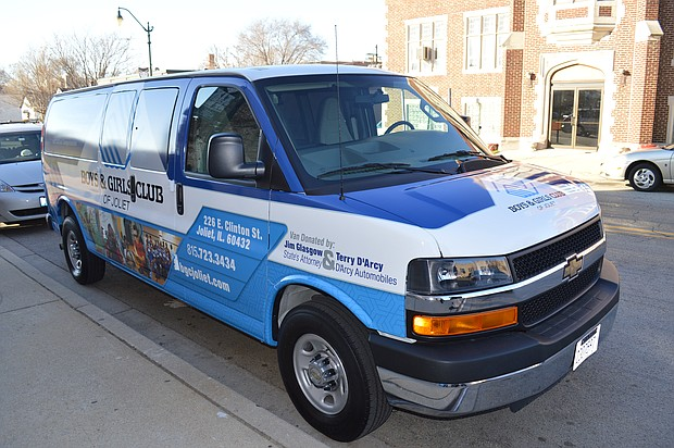 Boys & Girls Club of Joliet recently received a donation of a new 16-passenger van for its youth programs.