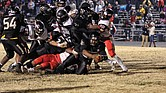 With 2:28 left on the clock, Highland Springs High School freshman Dre'Shawn Taylor stretches the ball across the goal line to give the Springers a 28-18 victory last Saturday over Nansemond River High School of Suffolk in the state 5A semifinals. The Springers will play Tuscarora High School of Leesburg on Saturday, Dec. 9, for the state title.