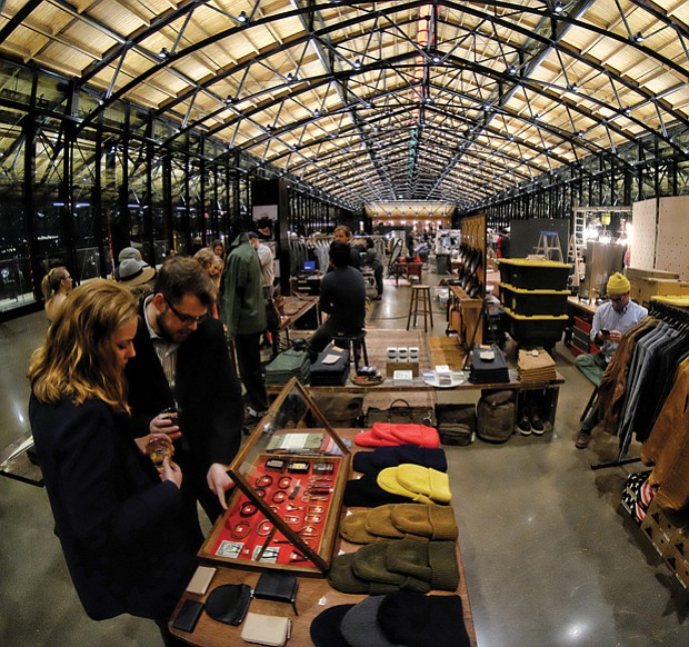 The Train Shed was transformed into a winter marketplace where shoppers could find unique gifts.