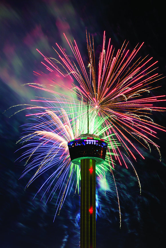San Antonio, a city long known for its rich history and confluence of cultures, officially rings in 2018 in style ...