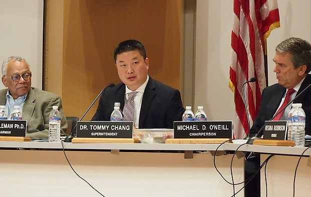 BPS Superintendent Tommy Chang