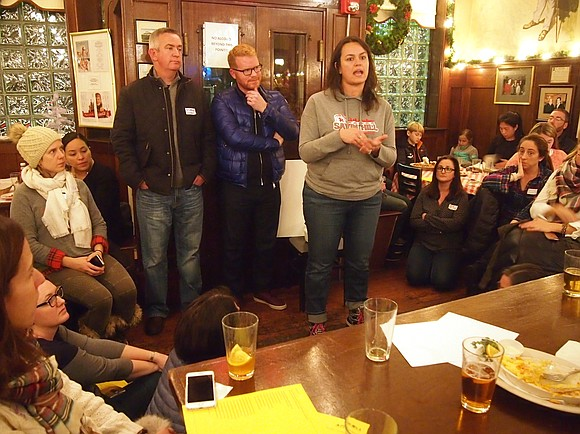 Sunday, parents gave voice to that outrage, with more than 150 people filling a function room at Doyle's Café in ...