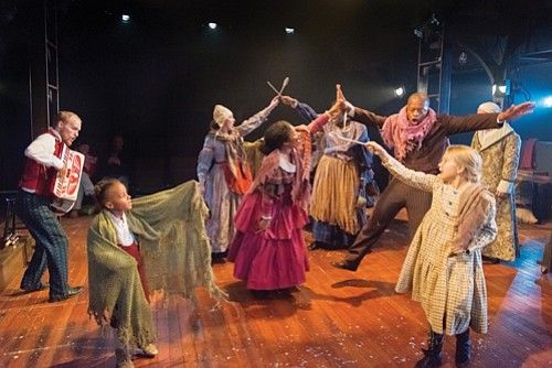 """A Christmas Carol,"" the tale of Ebenezer Scrooge's transformative journey of redemption, a mainstay of Portland Playhouse's annual season five ..."
