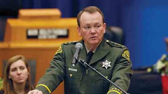 A dispute has broken out between Los Angeles County Sheriff Jim McDonnell and the union..