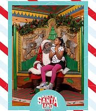 Seven-year-old Willa visit Santaland at Macy's