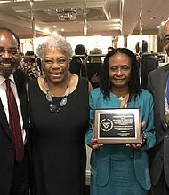 Richard Jones, Edna Moshette, Dr. Brenda Greene and Sydney Moshette Jr.