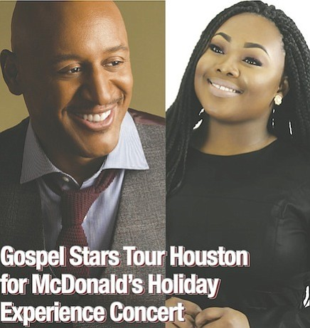 Gospel music stars are coming to Houston for the first-ever McDonald's Holiday Experience Concert, a leg of the Inspiration Celebration ...