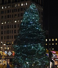 Harlem Christmas Tree at the Adan Clayton Powell State Office Building Plaza