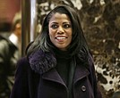 In this Dec. 13, 2016 file photo, Omarosa Manigault smiles at reporters as she walks through the lobby of Trump Tower in New York. (AP Photo/Seth Wenig)