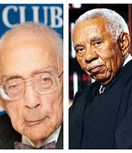 Simeon Booker Jr. (left) and Justice Ernest Finney Jr.