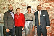 "(Left to right) Panel member, Kyle O'Connor, one of the founders of The StartUp Nest; Joy Bramble, Editor and Publisher, The Baltimore Times; Cassandra Vincent, Vincent Media & Consulting who served as moderator of the panel discussion; and panel member Will Holmes, Will Holmes Consulting U.S.A. at the ""Business & Building Your Legacy"" Event on November 30, 2017 at the StartUp Nest in Baltimore City."