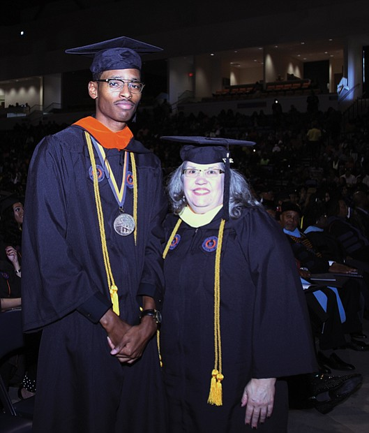 Top ranking seniors in the 2017 VSU Fall Commencement class are Andrew L. Bolding of Dinwiddie and Stacey T. Bradshaw of Emporia.