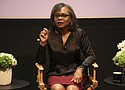 In this Dec. 8, 2017 photo, Anita Hill speaks at a discussion about sexual harassment and how to create lasting change from the scandal roiling Hollywood at United Talent Agency in Beverly Hills, Calif. (Photo by Willy Sanjuan/Invision/AP, File)