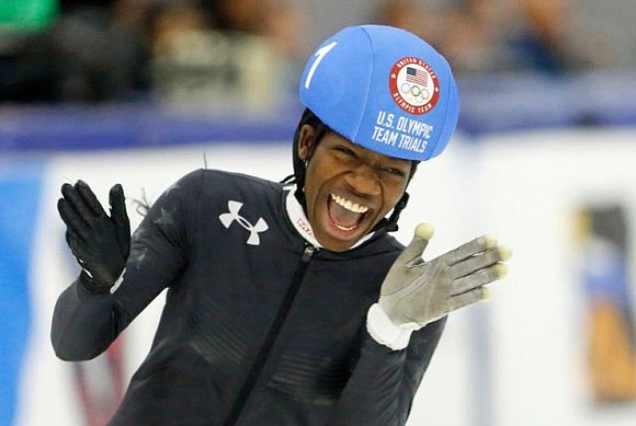 Maame Biney became the first black woman to qualify for a U.S. Olympic speedskating team with a pair of victories ...