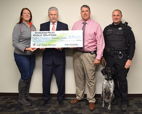 Will County State's Attorney James Glasgow welcomed a recent visit by Shorewood Police Department members who presented a generous $3,000 ...