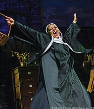 "Chantal DeGroat stars as a nun in the hilarious holiday hit ""Twist Your Dickens,"" with shows now showing through Sunday, Dec. 31 on the Main Stage at The Armory, downtown."