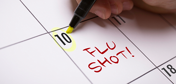 The flu and the common cold are both respiratory illnesses but they are caused by different viruses.