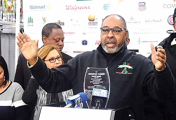 Larry Huggins, founder of Christmas in the Wards and a past resident of Englewood, said that the organization has provided ...