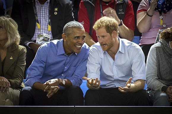 Former President Barack Obama told Prince Harry in an interview broadcast Wednesday that he felt serene the day he left ...
