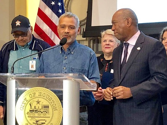 Mayor Sylvester Turner, staff and The Way Home announced that the goal to house 500 chronically homeless individuals in six ...