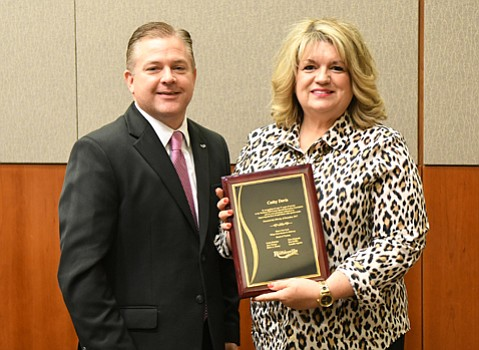 Cathy Davis was recently recognized for her service to the former Tri-County SRA.