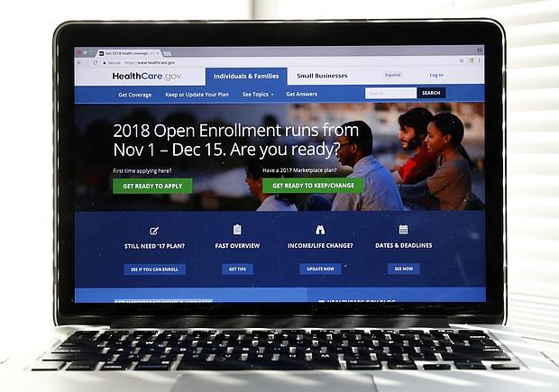 The Healthcare.gov website is seen on a computer screen in Washington. (AP Photo/Alex Brandon)