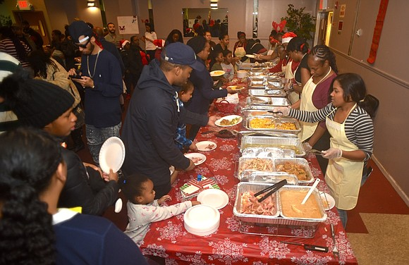 "Staten Island's Central Family Life Center fed those in need at the ""There's Room at the Inn"" celebration Dec. 23."