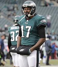 Philadelphia Eagles' wideout Alshon Jeffery. (AP Photo/Chris Szagola)
