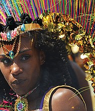 A masquerader in the 2017 Caribbean Carnival.