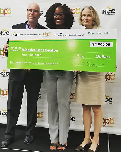 entrepreneur Deidre Mathis won 3rd place and $4,000 during the Houston Community College Business Plan Competition