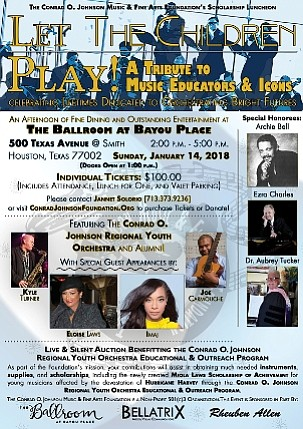 "The Conrad O. Johnson Music and Fine Arts Foundation presents ""Let the Children Play"" A Tribute to Music Educators & ..."