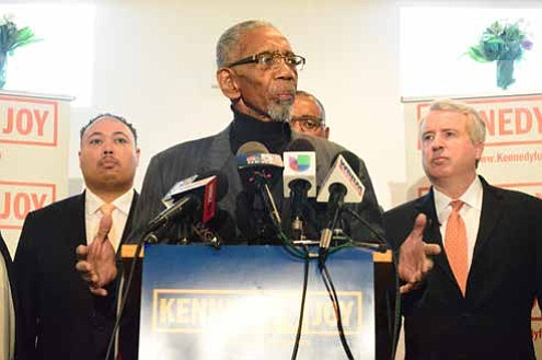 Representative Bobby Rush explained during a recent press conference that Illinois needs to form an economic program that deals with violence. Photo Credit: Christopher Shuttlesworth