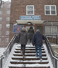 NYCHA officials check on residents during winter storm
