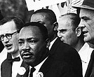 King at a civil rights protest.