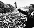 Martin Luther King Jr. addresses the crowd at the March on Washington.