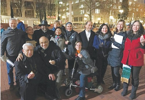 """Interfaith leaders in Portland are following in the path of the late Dr. Martin Luther King Jr. by forming a """"Beloved Community of Oregon"""" organization to bring people together. Clergy from the group gathered last January for a silent march and mediation to respond to a new era of hate speech, hate crimes and racial profiling"""