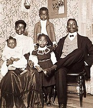 """""""Thomas A. & Margaret Dillion Family,"""" photographed by William Bullard about 1904; printed 2016, archival inkjet printed on Epson Hot Press Natural paper; facsimile produced from glass plate negatives lent by Frank J. Morrill."""