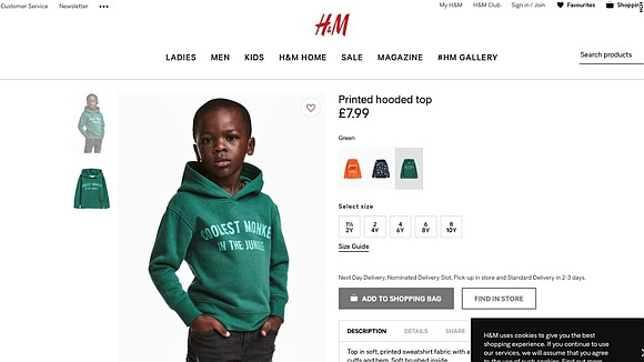 "Multi-national clothing retail company, H&M, has received sharp criticism from the public following a ""racist"" photo of a young black ..."