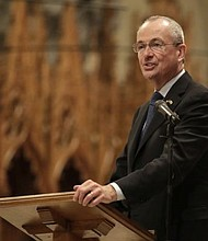 New Jersey Gov.-elect Phil Murphy speaks during a prayer service for him at the Cathedral Basilica of the Sacred Heart, Friday, Jan. 12, 2018, in Newark. (AP Photo/Julio Cortez)