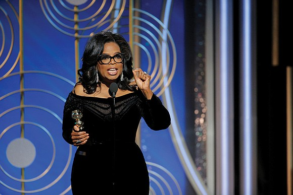 That's the buzz since the 63-year-old media mogul stole the show at the Golden Globe Awards on Sunday night with ...