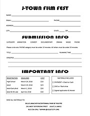 J-Town Film Fest application