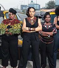 """The all-female cast of """"HEAR WORD! Naija Woman Talk True."""""""