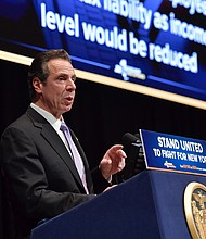 Gov. Andrew Cuomo delivers his executive budget