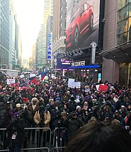 Rally Against Racism in Times Square