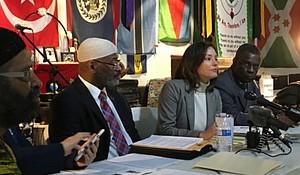 CAIR's Mustafaa Carroll and attorney Joaquina Rodriquez