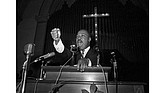 Dr. Martin Luther King Jr. speaks in Eutaw, Ala., in June 1965. Dr. King was head of the Southern Christian Leadership Conference and a Nobel Peace Prize winner.
