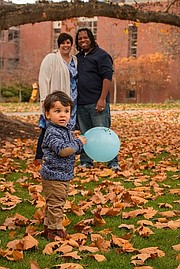 Nathan Brannon, pictured with his wife and young son, hosts a podcast about being in an interracial relationship.