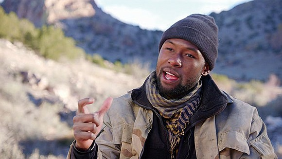 "Trevante Rhodes talks about his latest outing as Sergeant Ben Milo in ""12 Strong,"" a docudrama about the top secret ..."