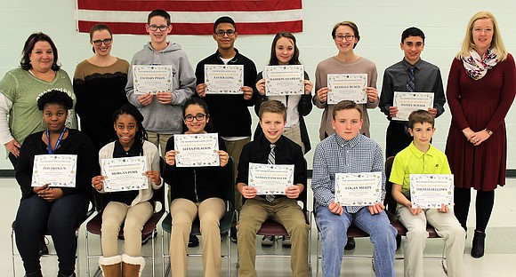 The Shorewood Lions Club recognized Troy Community School District 30-C December Students of the Month at the school district's January ...